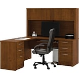 Tuscany Brown L-Shaped Workstation