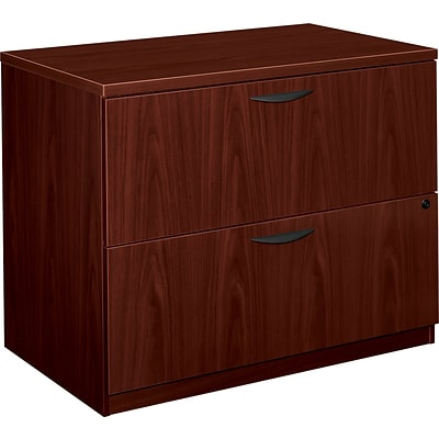 basyx by HON® BL Series 2 Drawer Lateral File Cabinet, Mahogany, 35.5W (BSXBL2171NN)