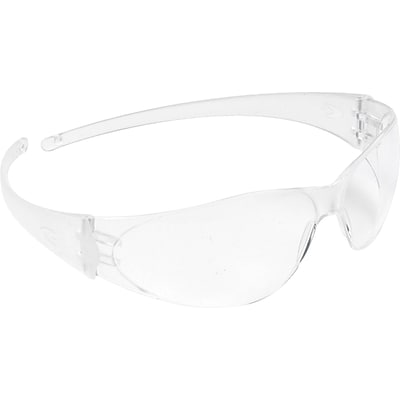 MCR Safety® Crews Safety Glasses, Flexible Bayonet Temples, Anti-Scratch, Clear