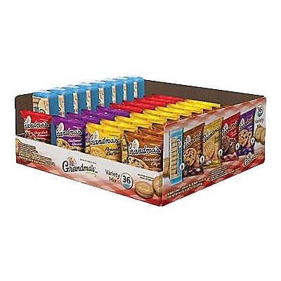 Grandmas® Cookie Variety Pack, 36 Bags/Box