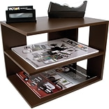 Victor Technology Wood Desk Accessories Corner Shelf, Mocha Brown (B1120)