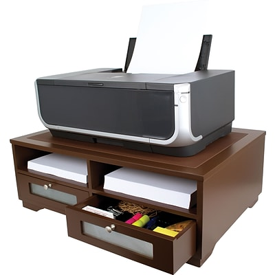 Victor® Wood Printer Stand; Mocha Brown