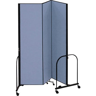 Screenflex® 3-Panel FREEstanding™ Portable Room Dividers; 74H x 59L, Blue