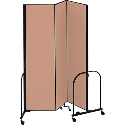 Screenflex® 3-Panel FREEstanding™ Portable Room Dividers; 74H x 59L, Oatmeal