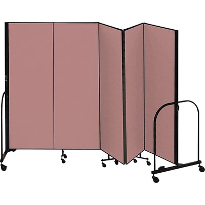 Screenflex® 5-Panel FREEstanding™ Portable Room Dividers; 6H, Mauve