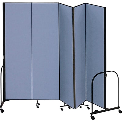 Screenflex® 5-Panel FREEstanding™ Portable Room Dividers; 8H, Blue
