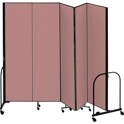 Screenflex® 5-Panel FREEstanding™ Portable Room Dividers; 8H, Mauve