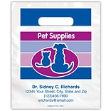 Medical Arts Press® Veterinary Personalized Small 2-Color Supply Bags; Cat/Dog Silhouette