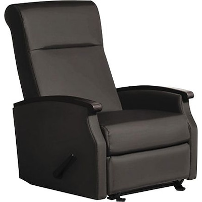 La-Z-Boy Florin Collection Room Saver Recliner; Black Vinyl