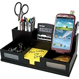 Victor® Wood Desk Organizer with Smart Phone Holder