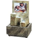 Ore International® Picture Frame Table Fountain, Multi Color