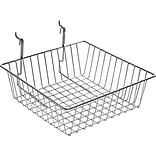 Azar® Wire Basket, Chrome, 4 1/4(H), 2/Pk