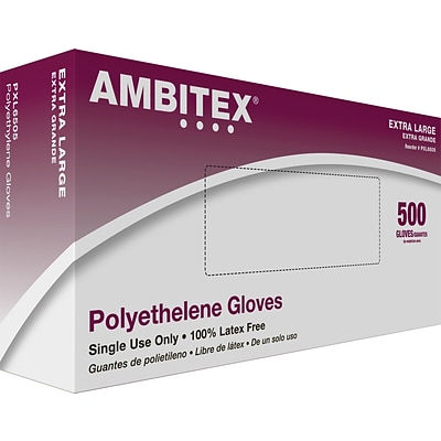Ambitex® Poly Food Service Gloves, Extra-Large, 10,000/CT