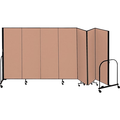 Screenflex® 7-Panel FREEstanding™ Portable Room Dividers; 6H x 131L; Oatmeal