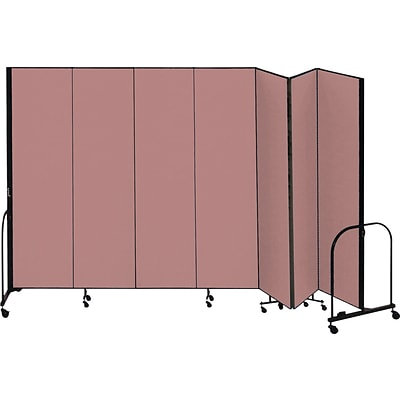 Screenflex® 7-Panel FREEstanding™ Portable Room Dividers; 8H x 131L; Mauve