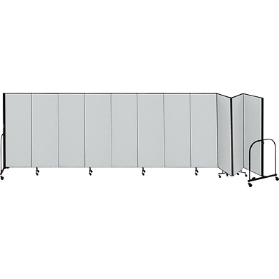 Screenflex® 11-Panel FREEstanding™ Portable Room Dividers, 6H x 205L, Grey
