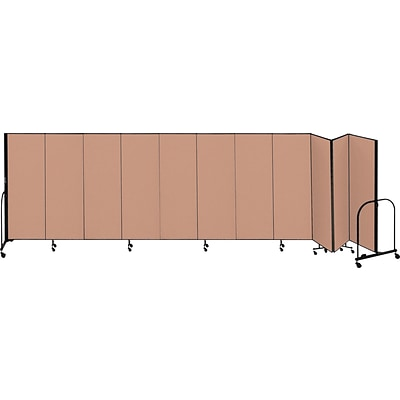 Screenflex® 11-Panel FREEstanding™ Portable Room Dividers; 6H x 205L, Oatmeal
