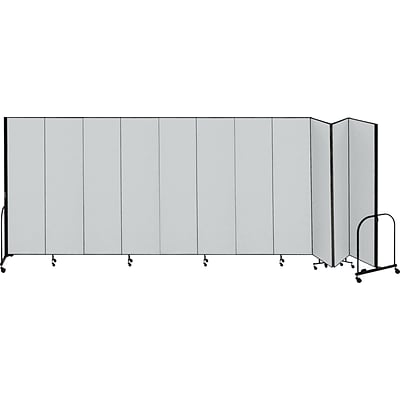 Screenflex® 11-Panel FREEstanding™ Portable Room Dividers; 74H x 205L, Grey