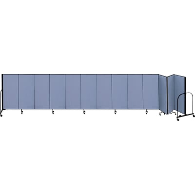 Screenflex® 13-Panel FREEstanding™ Portable Room Dividers; 6H x 241L, Blue