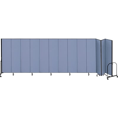 Screenflex® 13-Panel FREEstanding™ Portable Room Dividers; 74H x 241L, Blue