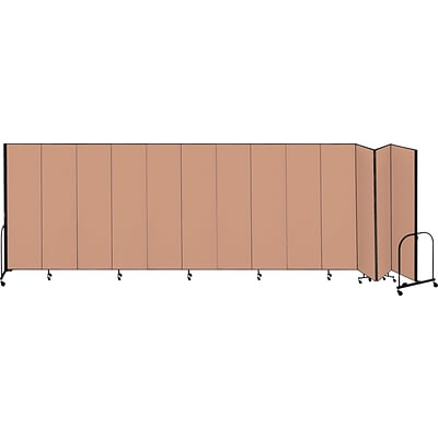 Screenflex® 13-Panel FREEstanding™ Portable Room Dividers; 8H x 241L, Oatmeal