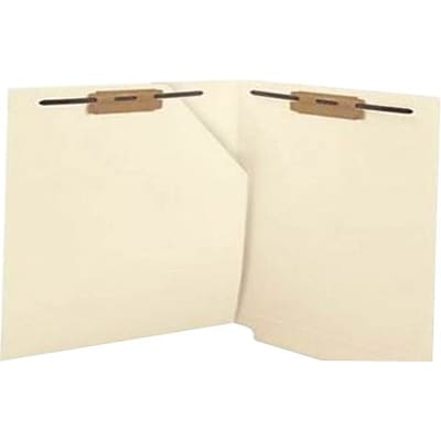 Medical Arts Press® End-Tab Folders with Full-Corner Pockets, Fasteners, 50/Box