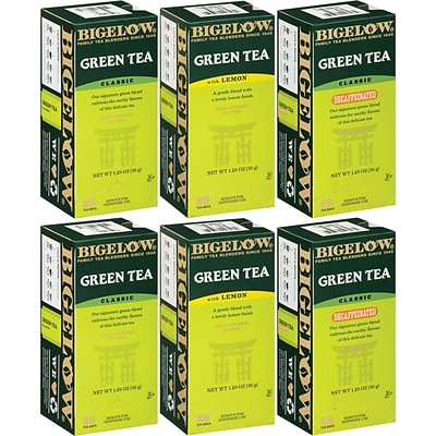 Bigelow® Tea; Green Tea, 28 Bags/Box, 6 Boxes/Case
