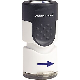 Accustamp Pre-Inked Round Stamp with Microban, Blue, Each (035654)