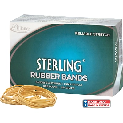 Alliance Sterling Rubber Bands, #19 (3 1/2 x 1/16) Approximately 1,700/1 lb. box.