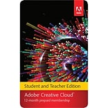 Adobe Creative Cloud for Windows/Mac (1-User) [Download: 1-Year Student & Teacher Subscription]