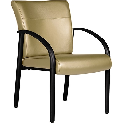 La-Z-Boy Gratzi Reception Series Guest Chair; With Arms, Taupe Vinyl
