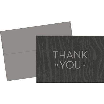 Great Papers® Grey Woodgrain Thank You Cards, 20/Pack