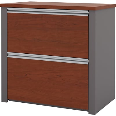 Bestar® Connexion Collection 2-Drawer Lateral File Cabinet; Bordeaux and Slate, Legal (9363130)