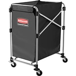 Rubbermaid® Collapsible X-Cart, 4 Bushel, Black