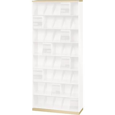Datum ThinStak® Open Shelf File; 36W, 2 Base & 1 Top, Bone White