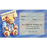 Full-Color Appointment Card; Teddy Bear