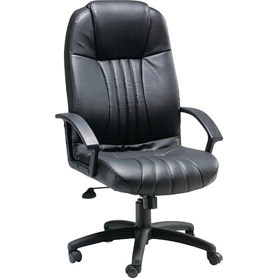 Quill Brand® 10352QL Leather Executive/Manager Chair, Black