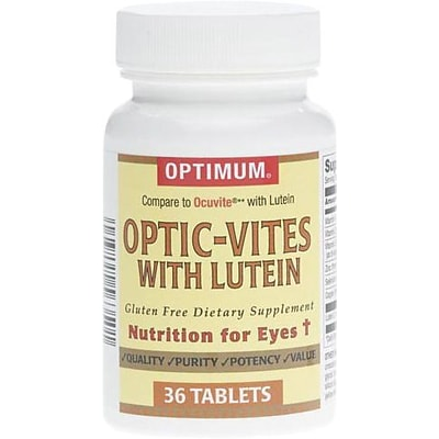 Optic-Vites Lutein Eye Vitamin Tablets (Compare to Ocuvite® with Lutein), 36Ea/Bottle