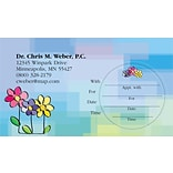 Medical Arts Press® WriteOnce® Peel-Off Sticker Appointment Cards; Flowers