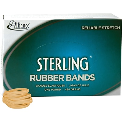 Alliance Ergonomically Correct Boxed Rubber Bands, Size 30, 2 x 1/8, Approx. 1,500, 1 lb. Box (ALL24305)