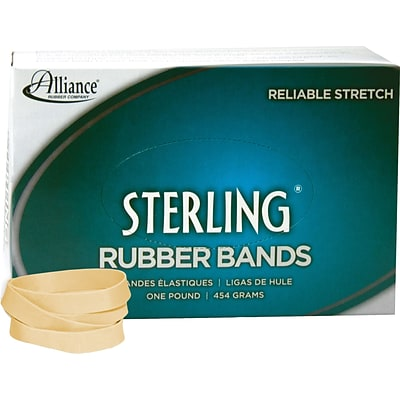 Rubber Band, Sterling , Meets Fed Spec, Soft Stretch, Easy Apply, Excellent Count, USA MADE, #84 (3-1/2x1/2), 1 lb Box