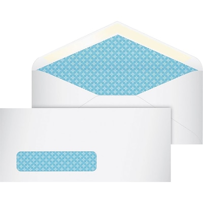 Quill Brand® Standard Single Window Security Envelopes; #10, 500/Box