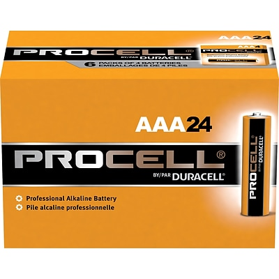 Duracell® Procell Alkaline AAA Batteries, 1.5V, 24-Pack