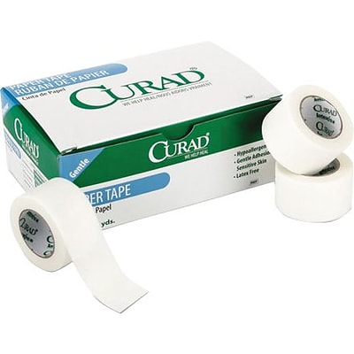Curad® Paper Adhesive Tape, 2 x 10 yds., 6/Box