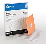 Quill Brand® Laser Address Labels, 1 x 2-5/8, White, 30 Labels/Sheet, 100 Sheets/Box (710786)
