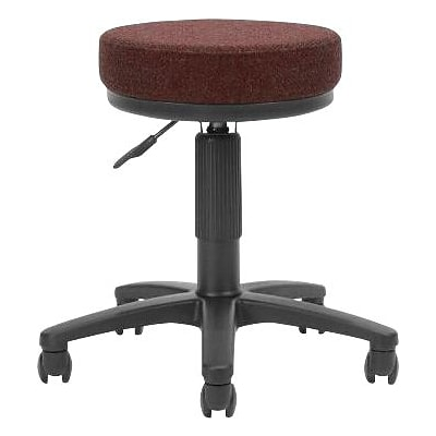OFM™ 3 Fabric Padded Utilistool, Burgundy