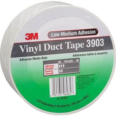 3M™ Vinyl Duct Tape; 2 in. x 50 Yd., White