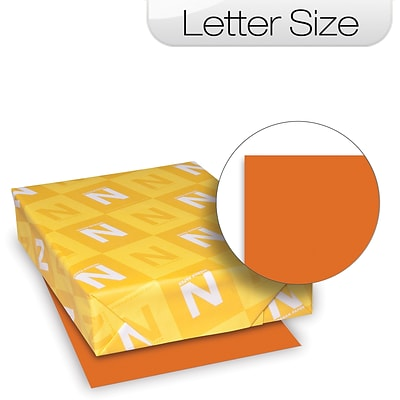 Wausau Paper™ Astrobrights® Colored Card Stock;  65lb, 8-1/2 x 11, Letter, Orbit Orange, 250/Pack