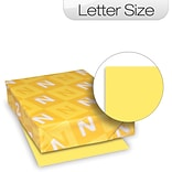 Neenah® Exact 90-lb. Paper; 8-1/2 x 11, Letter, Canary Yellow, 250/Pack