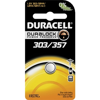 Duracell® Silver Oxide D303/357 Battery, 1.5V, 1-Pack